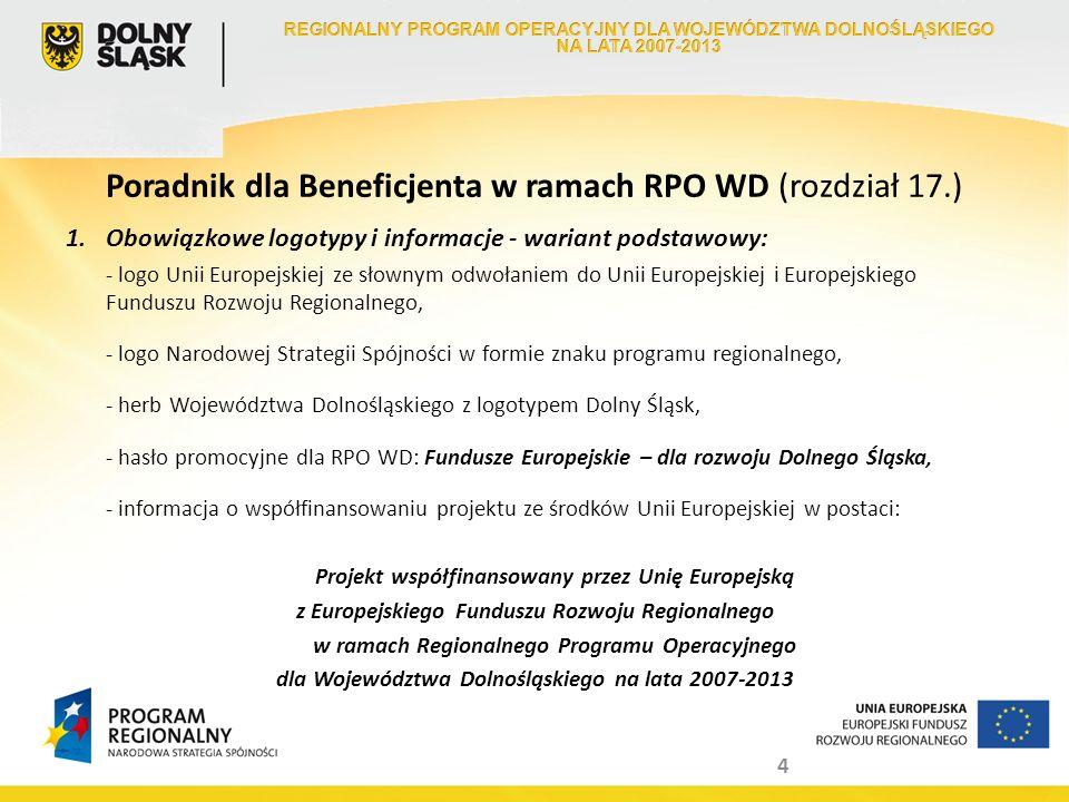 Poradnik dla Beneficjenta w ramach RPO WD (rozdział 17.)