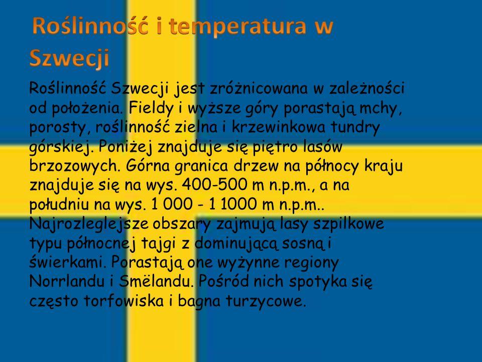 Roślinność i temperatura w Szwecji