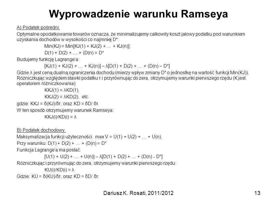 Wyprowadzenie warunku Ramseya