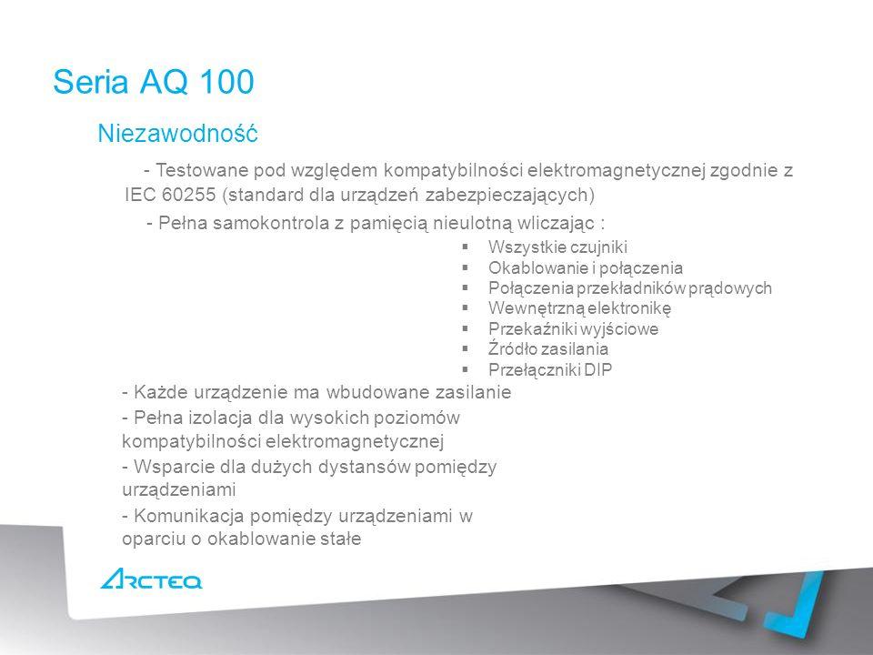 Seria AQ 100 Niezawodność.
