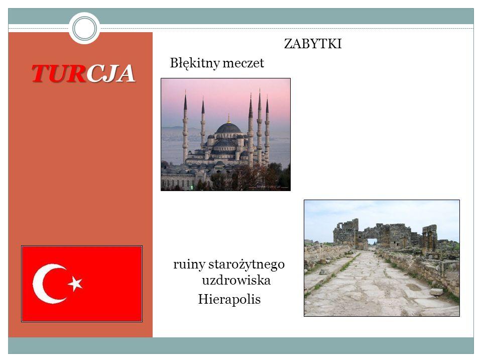 TURCJA ZABYTKI Błękitny meczet ruiny starożytnego uzdrowiska