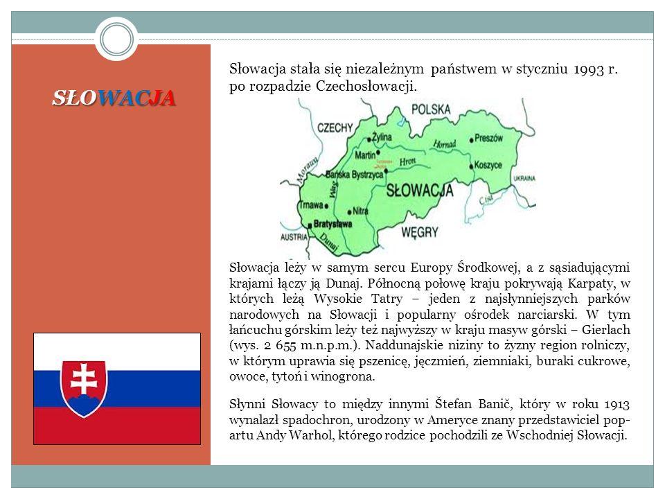 Słowacja stała się niezależnym państwem w styczniu 1993 r