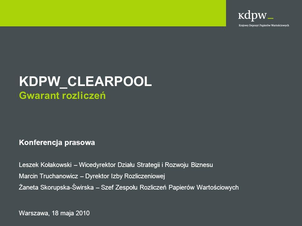 KDPW_CLEARPOOL Gwarant rozliczeń