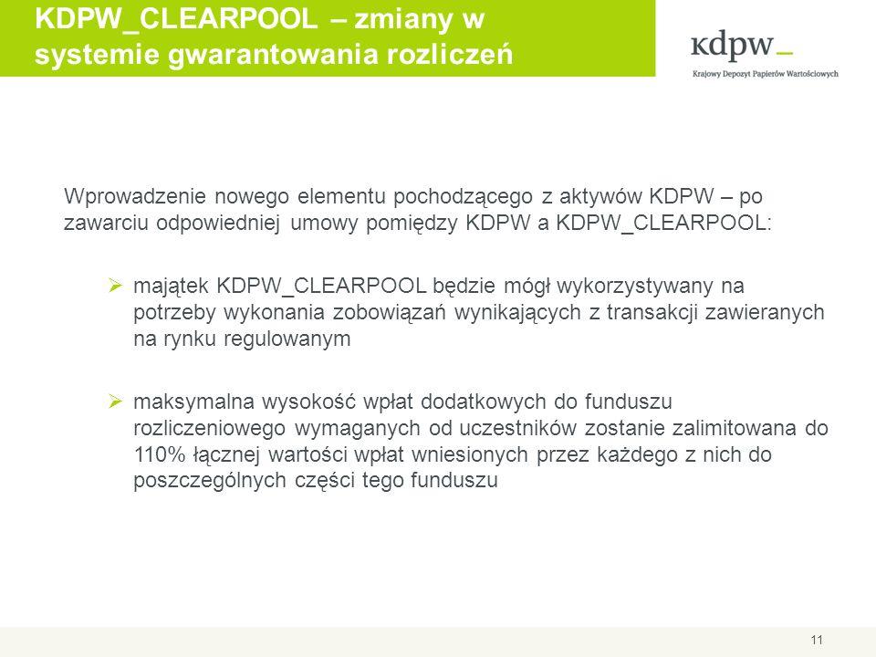 KDPW_CLEARPOOL – zmiany w systemie gwarantowania rozliczeń