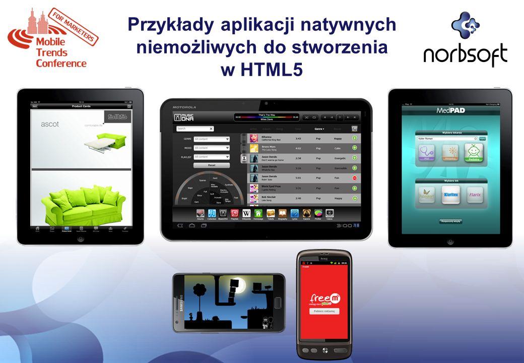 Przykłady aplikacji natywnych niemożliwych do stworzenia