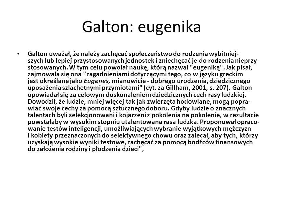Galton: eugenika