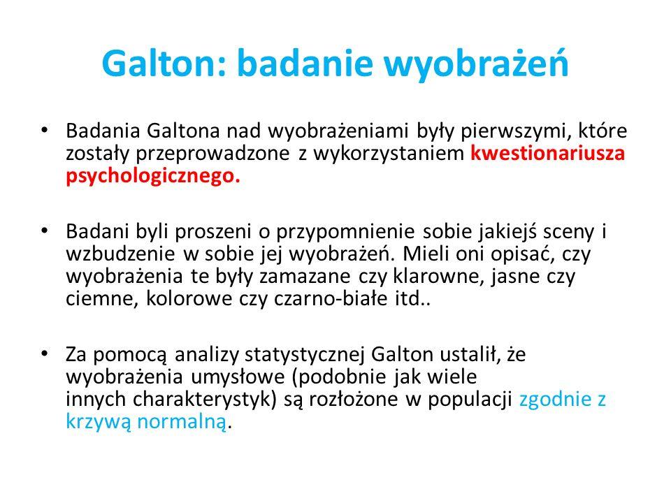 Galton: badanie wyobrażeń