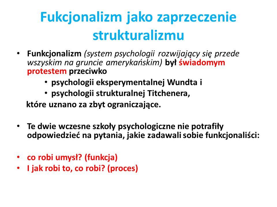 Fukcjonalizm jako zaprzeczenie strukturalizmu