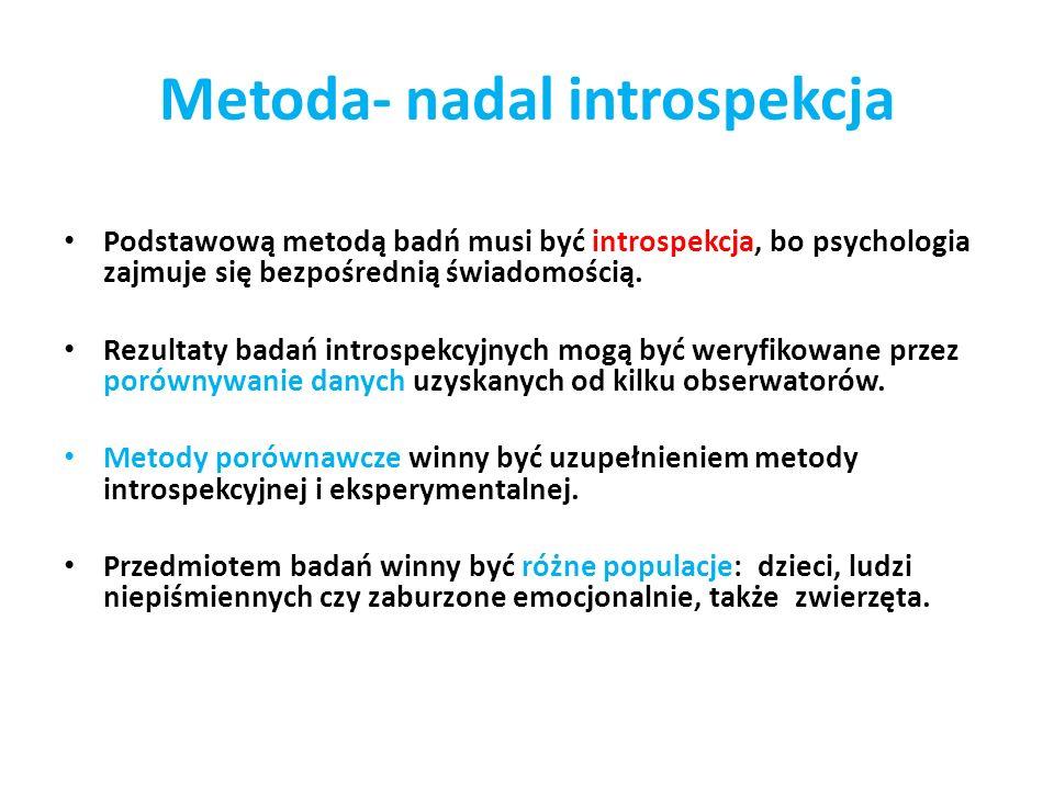 Metoda- nadal introspekcja