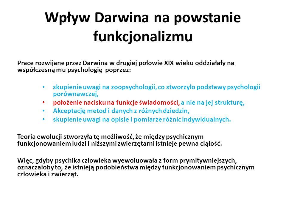 Wpływ Darwina na powstanie funkcjonalizmu