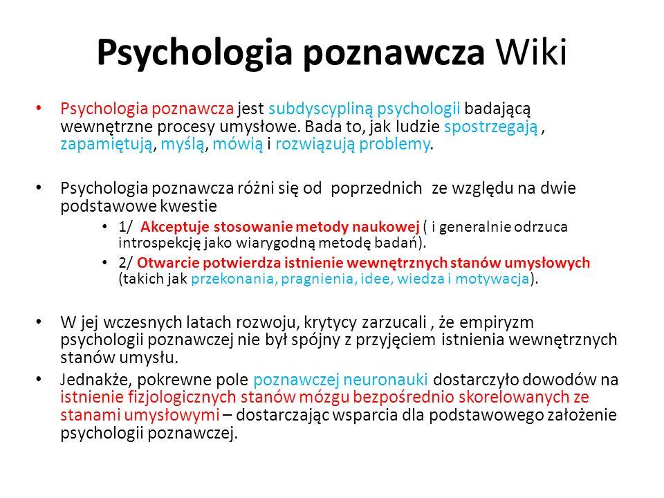 Psychologia poznawcza Wiki