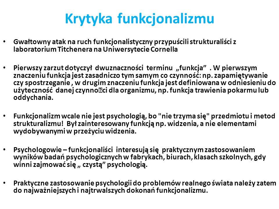 Krytyka funkcjonalizmu