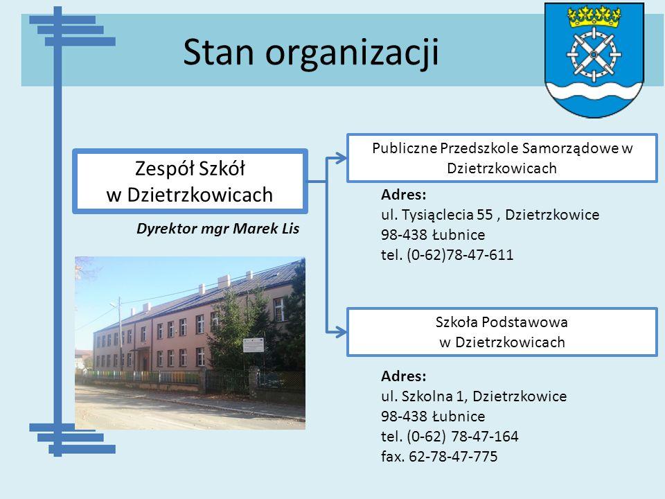 Stan organizacji Zespół Szkół w Dzietrzkowicach