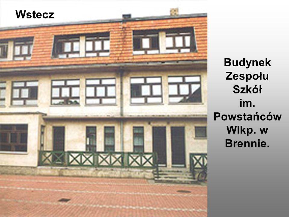 Budynek Zespołu Szkół im. Powstańców Wlkp. w Brennie.
