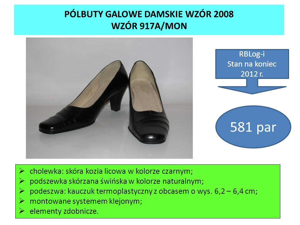 PÓLBUTY GALOWE DAMSKIE WZÓR 2008 WZÓR 917A/MON