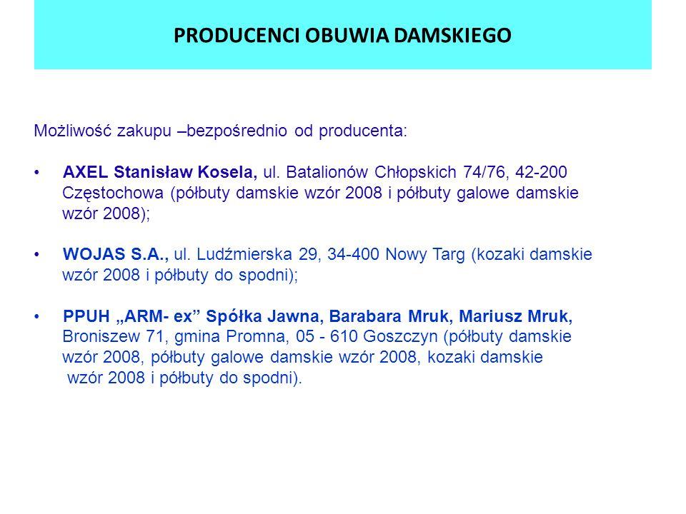 PRODUCENCI OBUWIA DAMSKIEGO