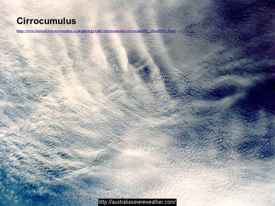 Cirrocumulus http://www.australiasevereweather.com/photography/cirrocumulus/cirrocumulus_cloud0001.html.