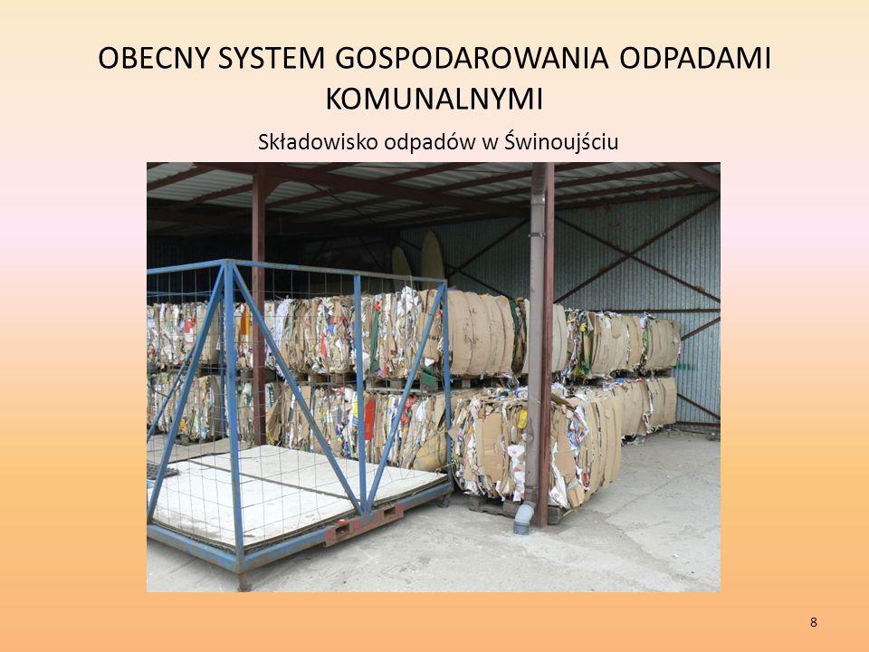 OBECNY SYSTEM GOSPODAROWANIA ODPADAMI KOMUNALNYMI Składowisko odpadów w Świnoujściu