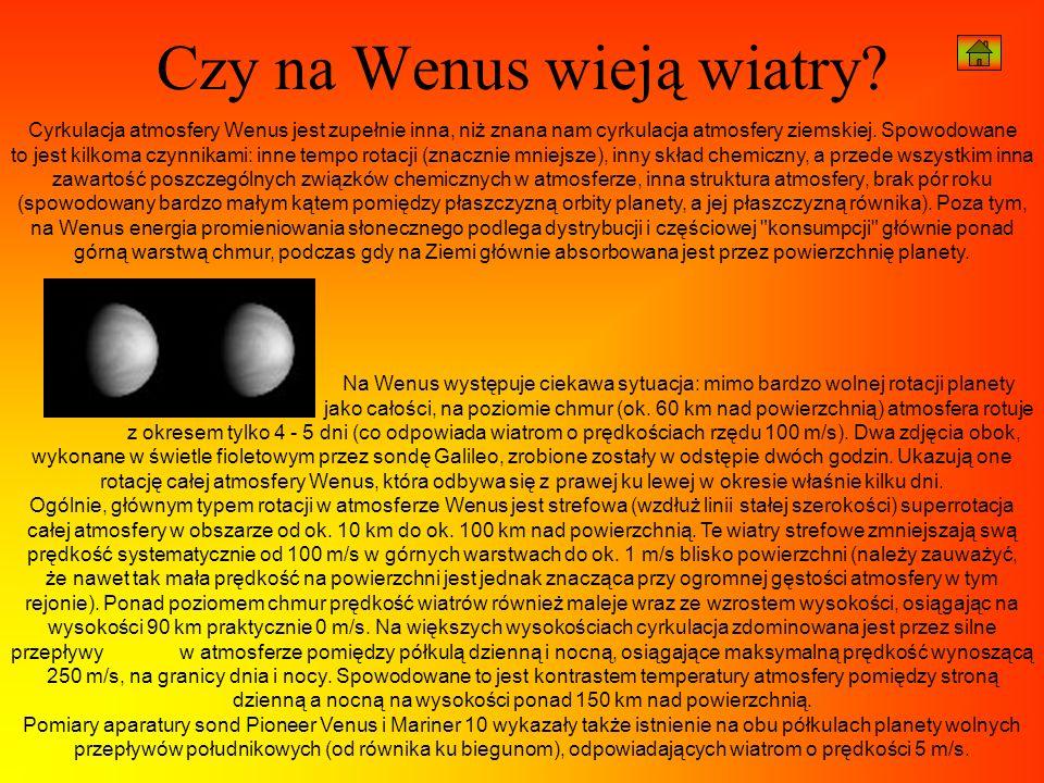 Czy na Wenus wieją wiatry