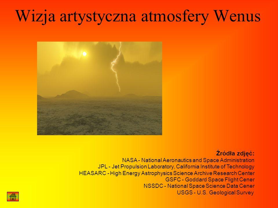 Wizja artystyczna atmosfery Wenus