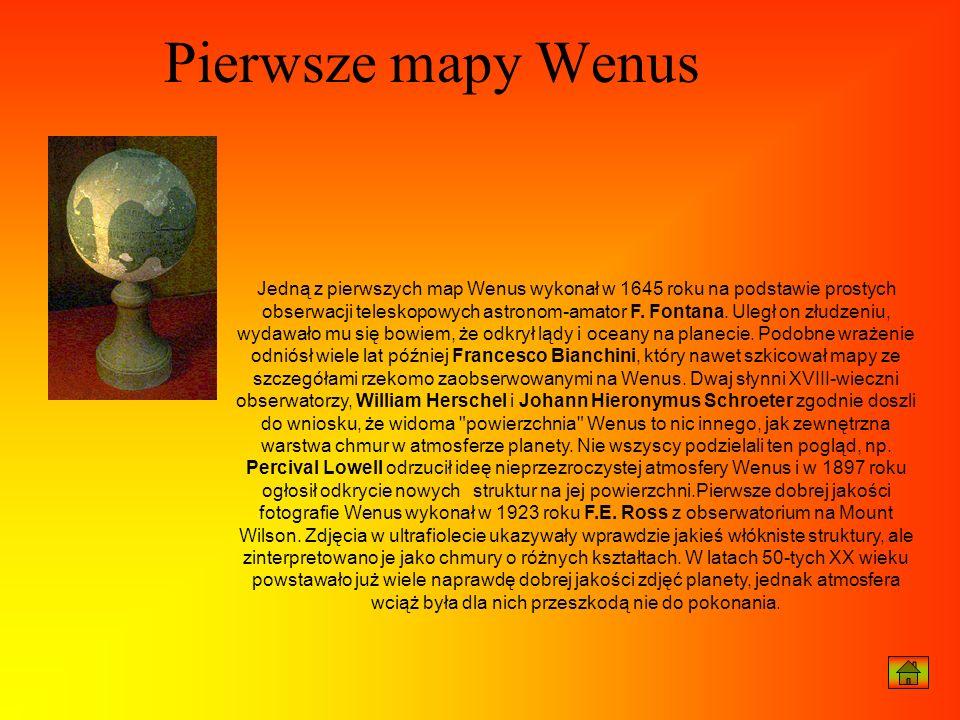 Pierwsze mapy Wenus