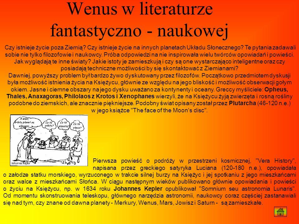 Wenus w literaturze fantastyczno - naukowej