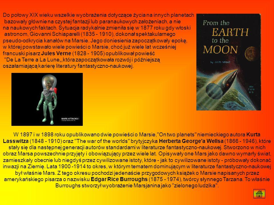 Do połowy XIX wieku wszelkie wyobrażenia dotyczące życia na innych planetach