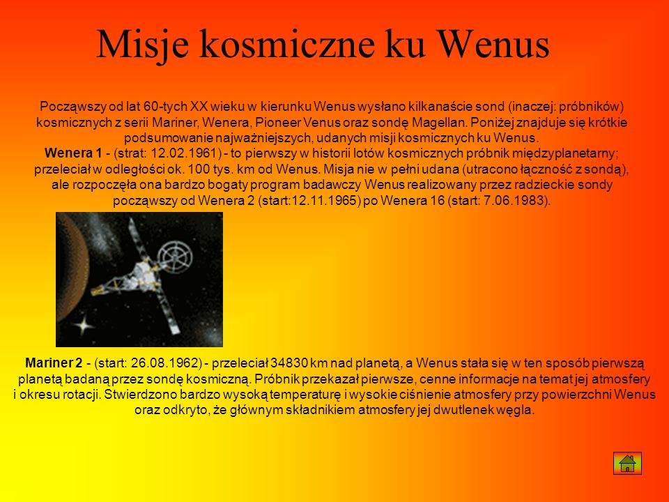 Misje kosmiczne ku Wenus