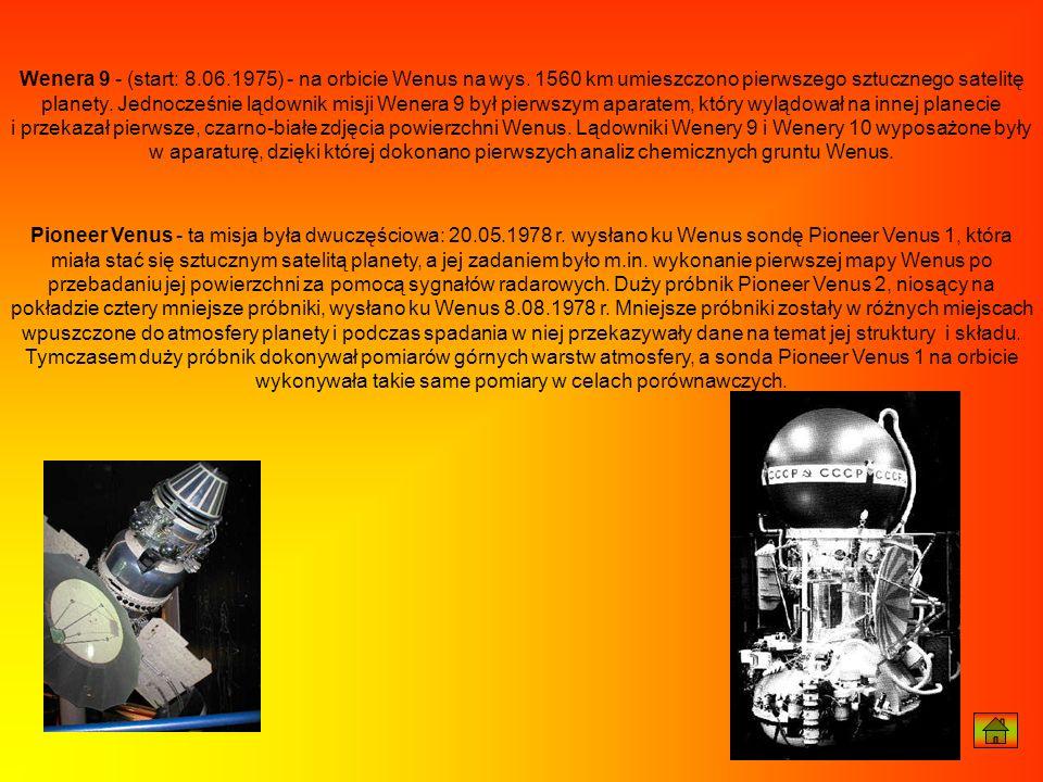 Wenera 9 - (start: 8. 06. 1975) - na orbicie Wenus na wys