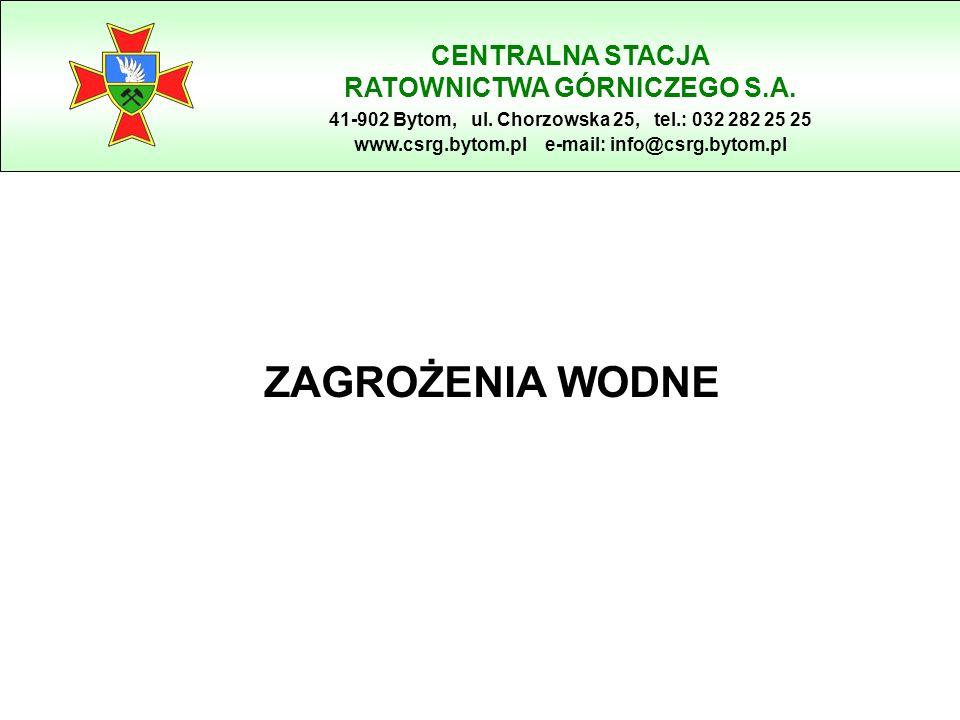 ZAGROŻENIA WODNE CENTRALNA STACJA RATOWNICTWA GÓRNICZEGO S.A.
