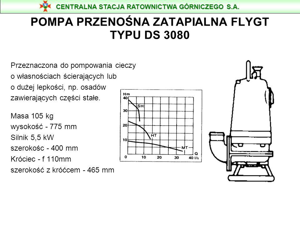 POMPA PRZENOŚNA ZATAPIALNA FLYGT TYPU DS 3080