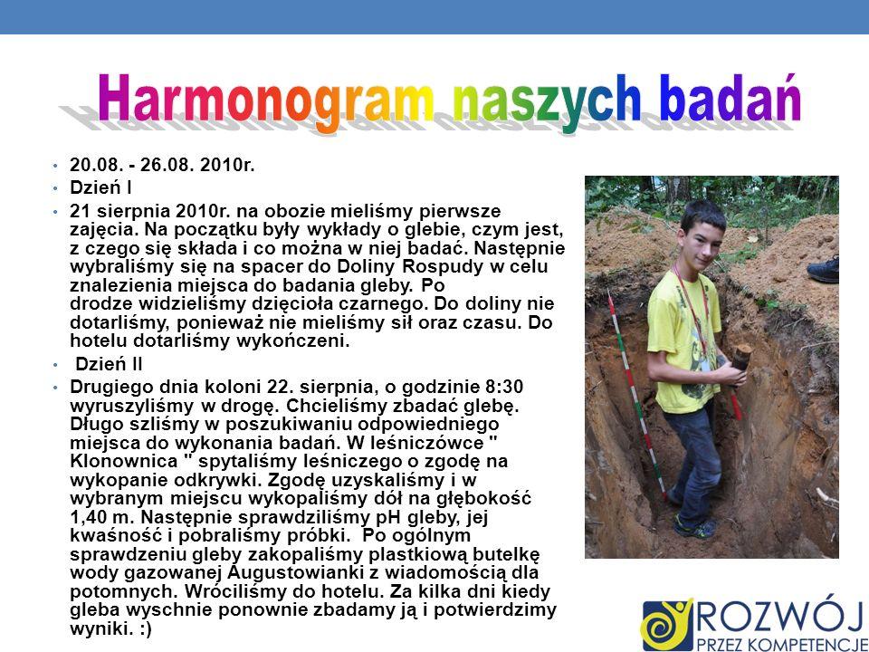 Harmonogram naszych badań