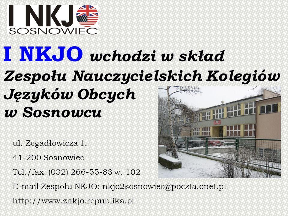 I NKJO wchodzi w skład Zespołu Nauczycielskich Kolegiów Języków Obcych