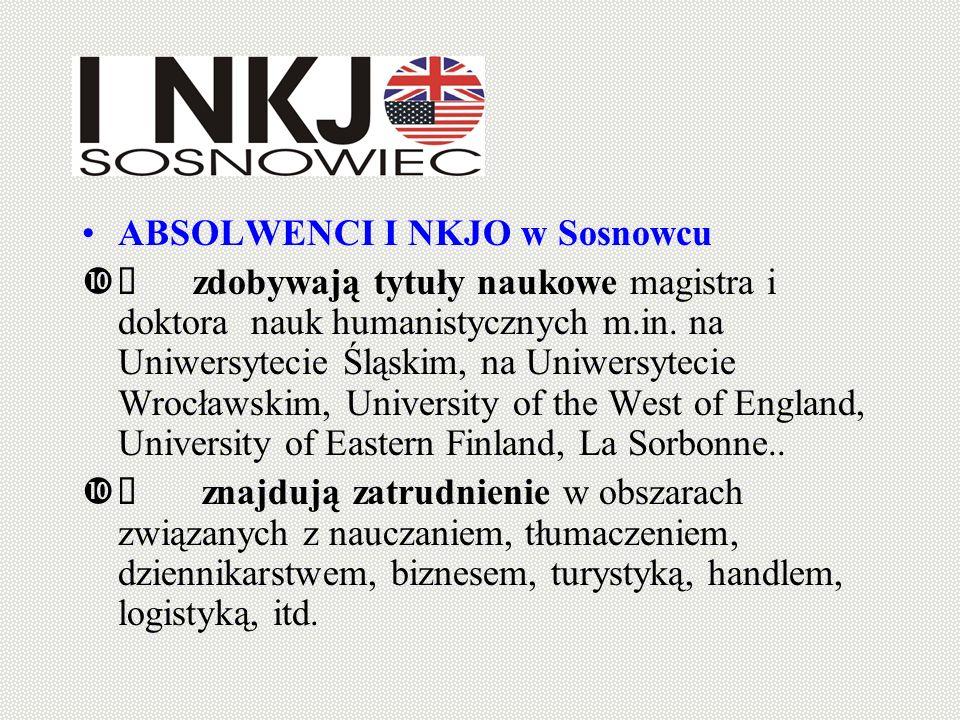 ABSOLWENCI I NKJO w Sosnowcu