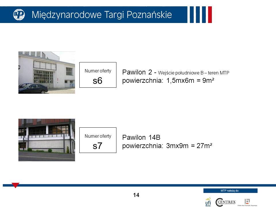 Pawilon 14B powierzchnia: 3mx9m = 27m²