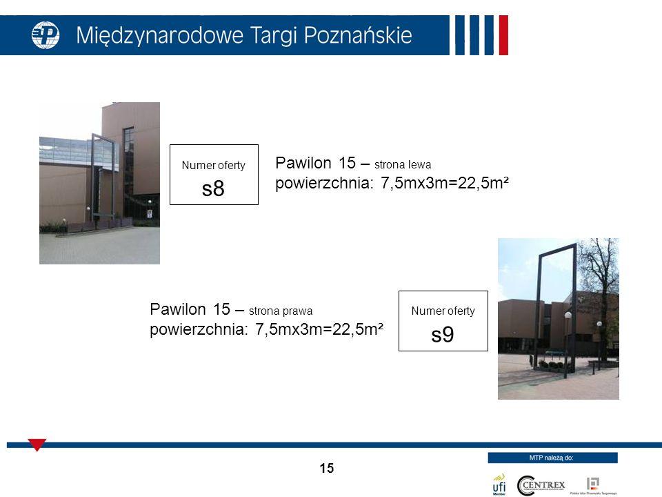 Pawilon 15 – strona lewa powierzchnia: 7,5mx3m=22,5m²