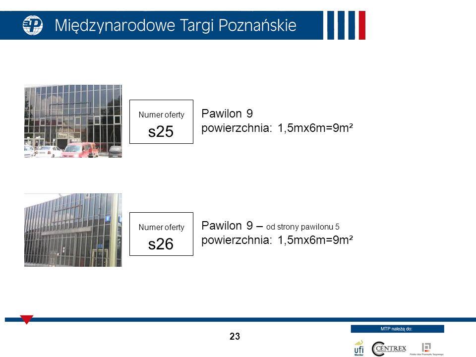 Pawilon 9 powierzchnia: 1,5mx6m=9m²