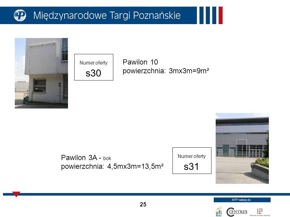 Pawilon 10 powierzchnia: 3mx3m=9m²