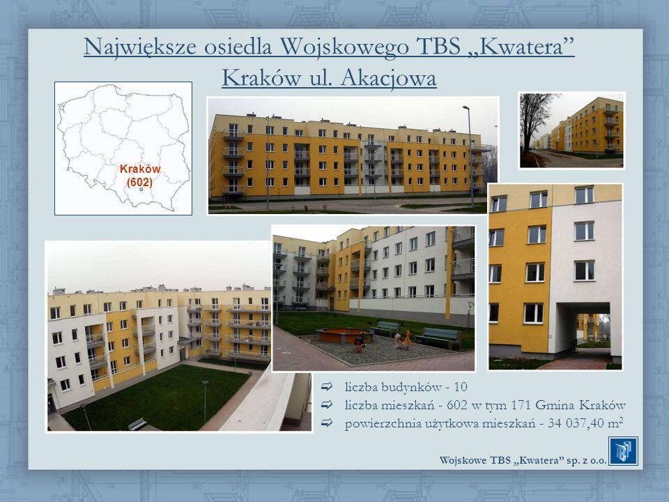 """Największe osiedla Wojskowego TBS """"Kwatera Kraków ul. Akacjowa"""