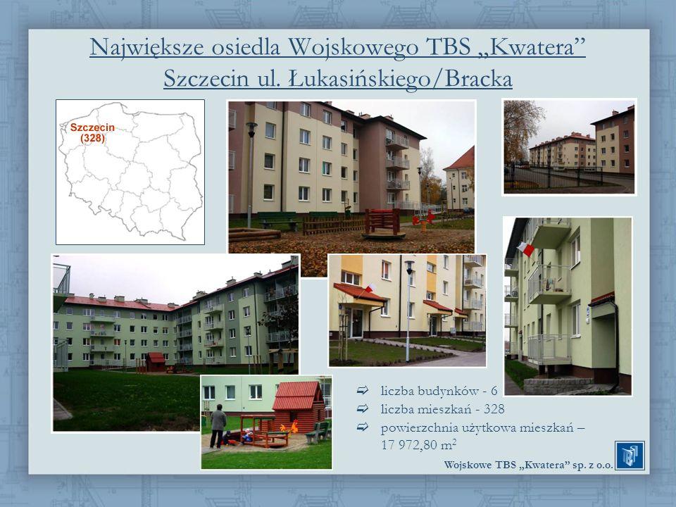 """Największe osiedla Wojskowego TBS """"Kwatera Szczecin ul"""