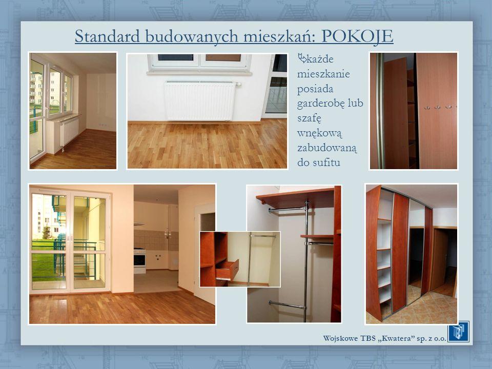 Standard budowanych mieszkań: POKOJE
