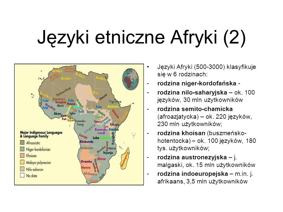 Języki etniczne Afryki (2)