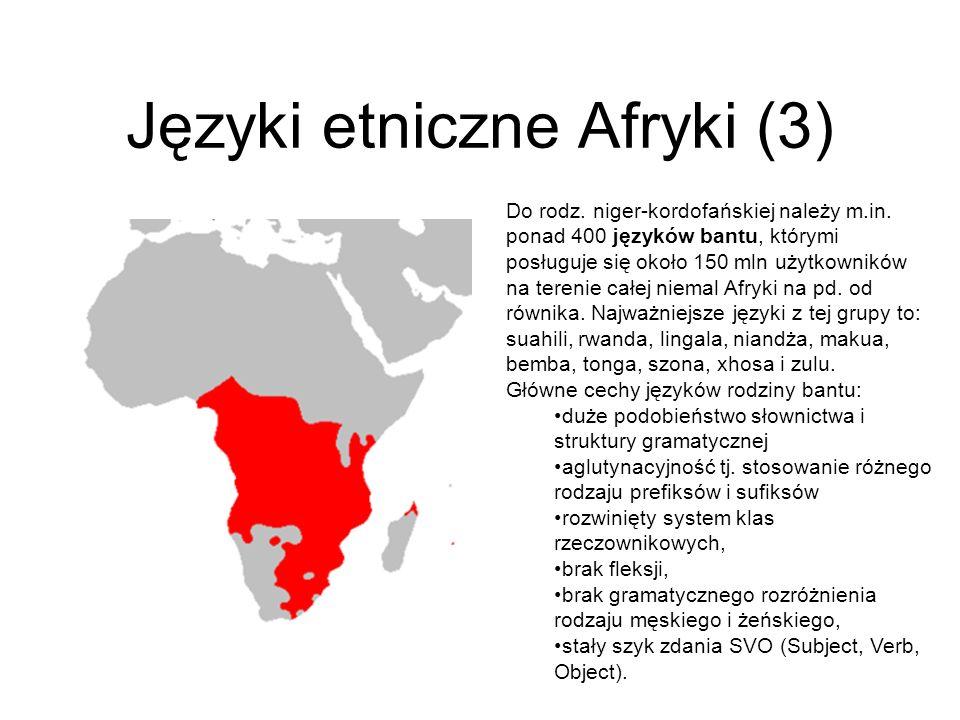 Języki etniczne Afryki (3)