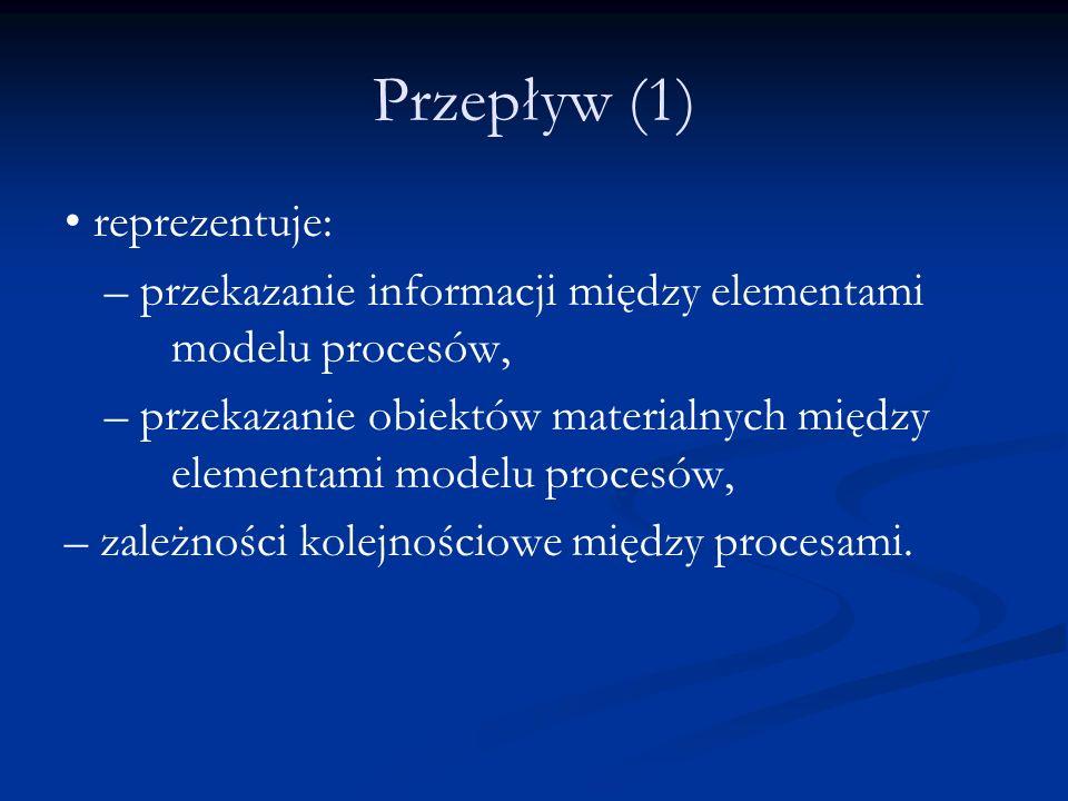 Przepływ (1) • reprezentuje: