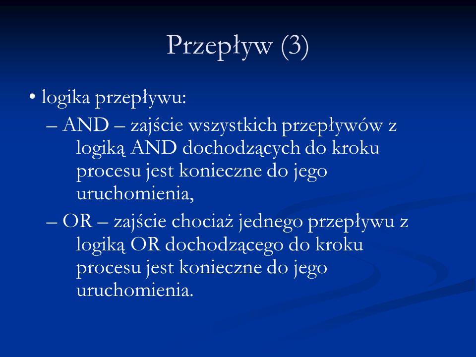 Przepływ (3) • logika przepływu: