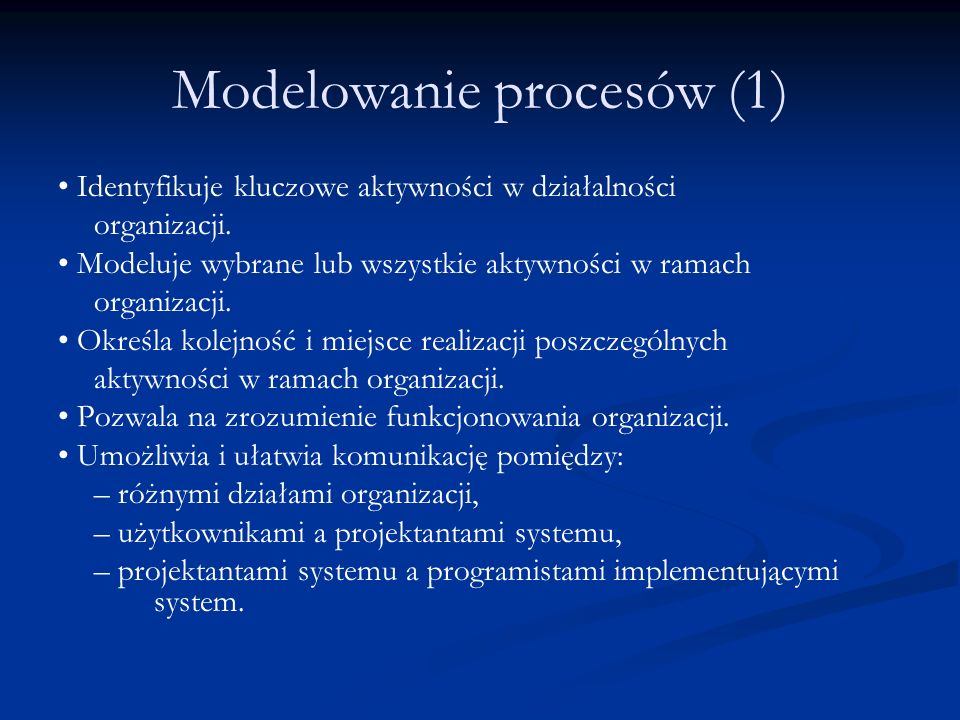 Modelowanie procesów (1)