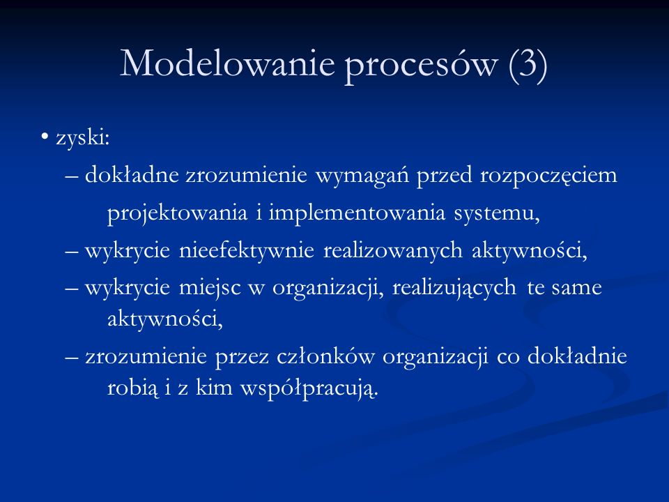 Modelowanie procesów (3)