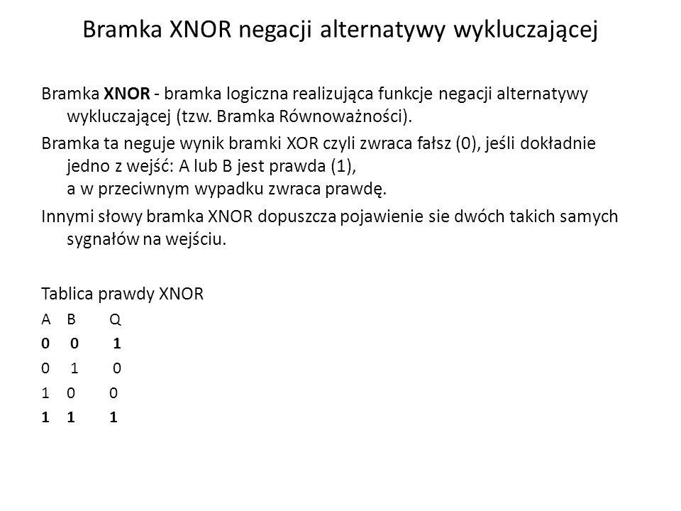 Bramka XNOR negacji alternatywy wykluczającej