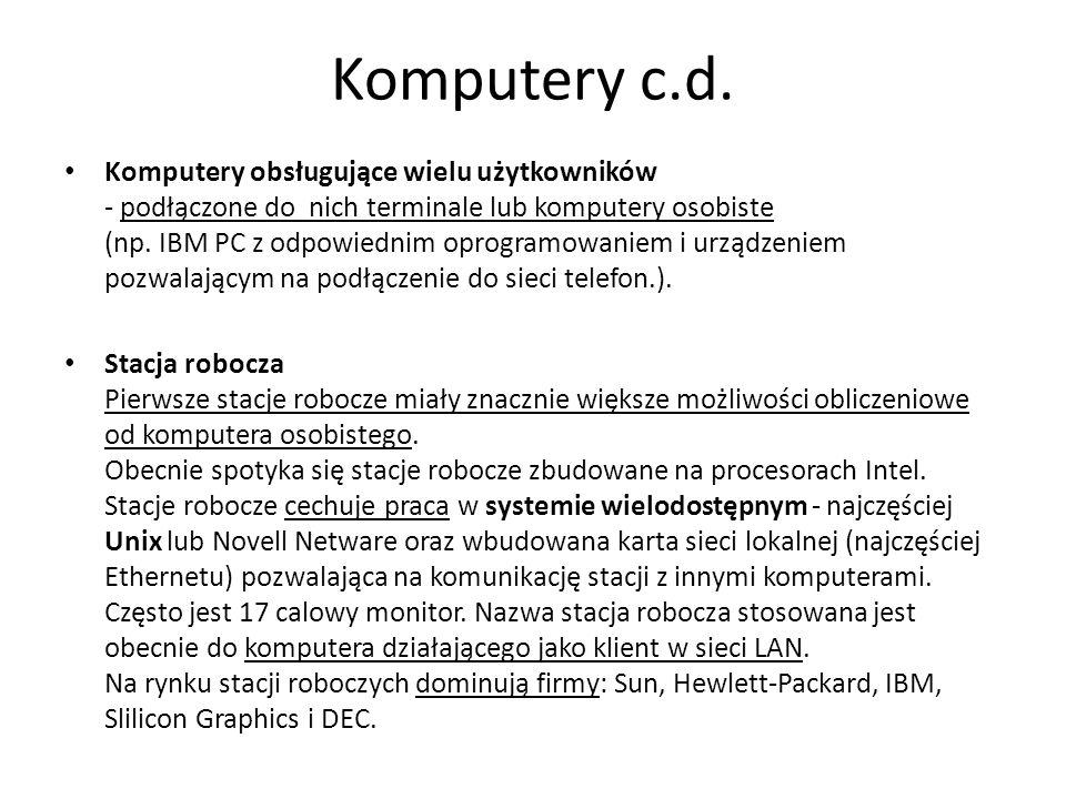 Komputery c.d.
