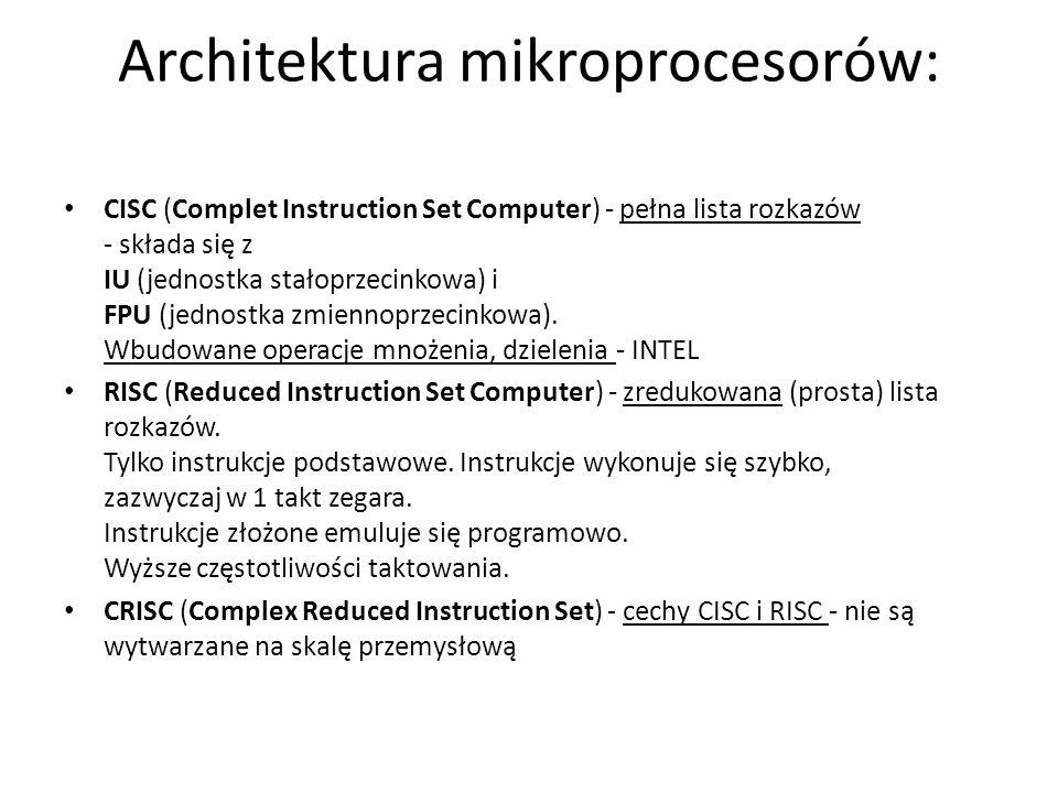 Architektura mikroprocesorów: